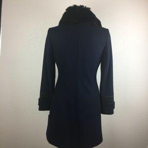 Via Spiga Jackets & Coats - Via Spiga Leather & Faux Fur Trimmed Coat sz 4